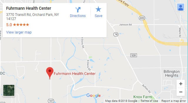 Map of Orchard Park Chiropractor-